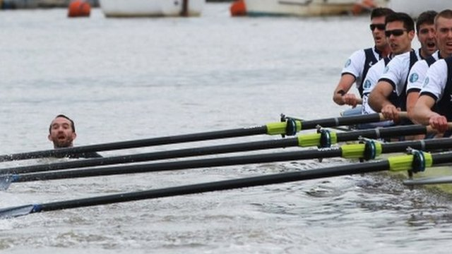 Trenton Oldfield disrupts the 2012 Boat Race
