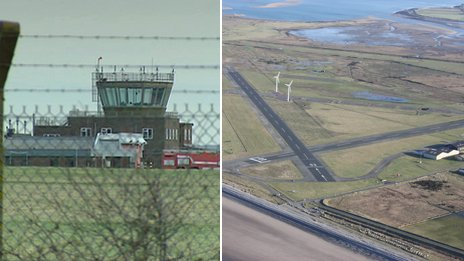 L-R]: St Athan, Vale of Glamorgan; Caernarfon Airport