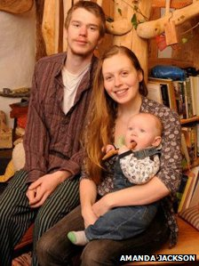 Charlie Hague and Megan Williams and their son Eli