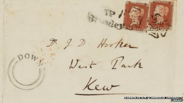 Envelope from Darwin to Hooker