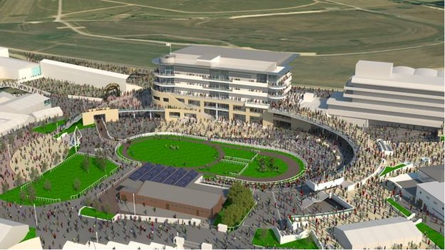 Picture of proposed new grandstand at Cheltenham