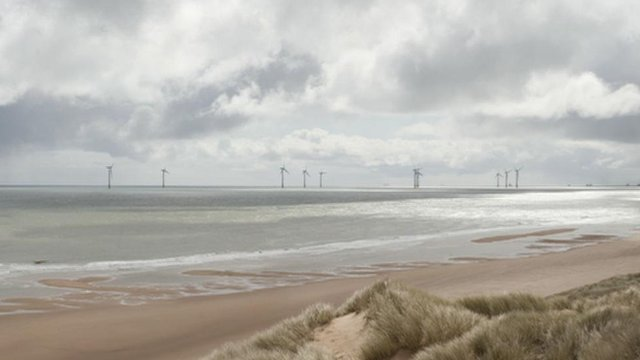 Artist's impression of the wind farm