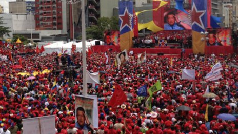 Nicolas Maduro's supporters in Caracas