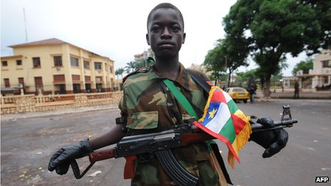 A Seleka rebel in Bangui (25 March 2013)
