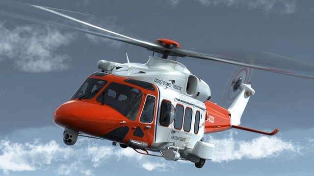 Helicopter operated by Bristow