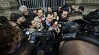 Kercher family lawyer Francesco Maresca speaks to reporters outside  Italy's Court of Cassation in Rome on 26 March 2013