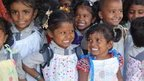 Orphans in India receive recycled dresses