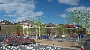 Artist's impression of Sleaford Tesco store