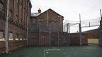 Exercise yard at HMP Shrewsbury