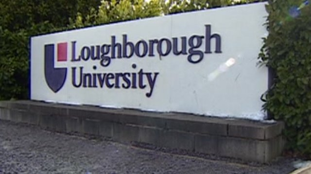 A sign outside Loughborough University