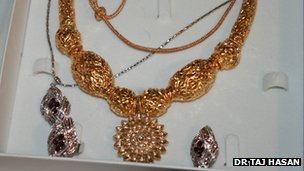 Some of the stolen jewellery