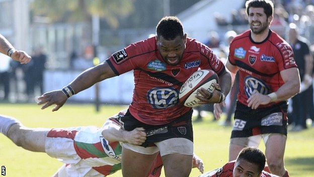 Steffon Armitage in action for RC Toulon