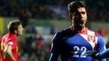 Croatia's Eduardo celebrates scorig the winner