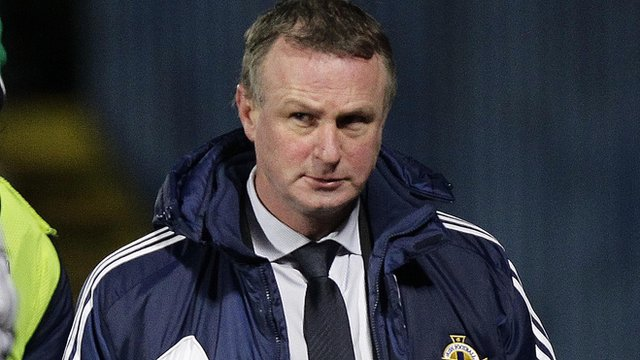 Michael O'Neill after the final whistle at Windsor Park