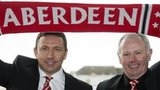 Derek McInnes and chairman Stewart Milne