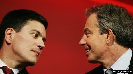 David Miliband and Tony Blair