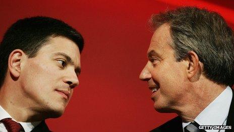 David Miliband and Tony Blair