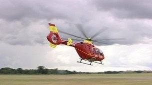 Air ambulance - generic archive image