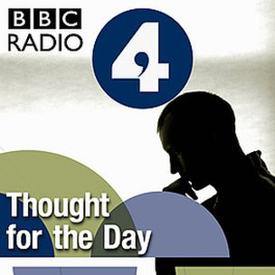 radio 4 logo and outline of man thinking
