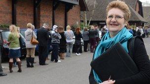 Carol Bramley at Whiteley job fair