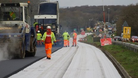 A22 resurfacing works