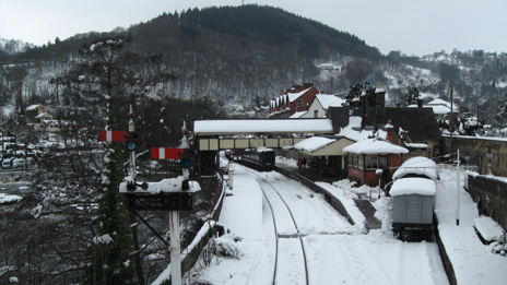 Snow at Llangollen Railway