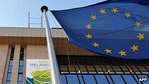 EU flag in Brussels