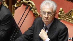 Mario Monti, Italy's caretaker PM (27 Mar 2013)
