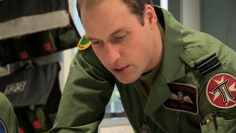 Prince Williams at RAF Valley in the series Helicopter Rescue