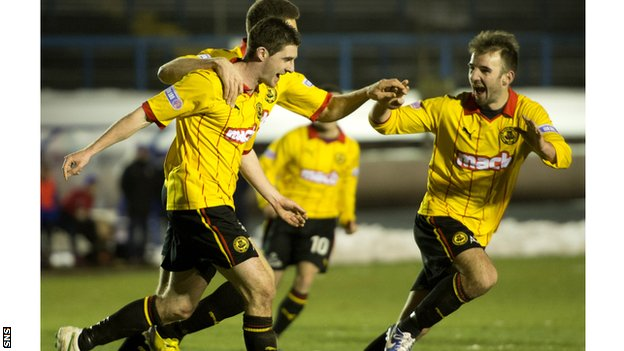 Partick Thistle are one point clear at the top of Division One