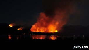 Wildfire at Glenelg taken from Kylerhea on Skye