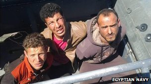 Picture of arrested divers