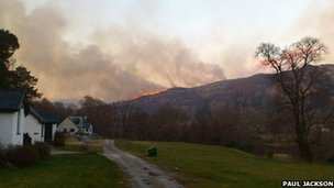 Fire above Strontian