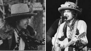 Bob Dylan's album Desire and Bob Dylan performing in 1976