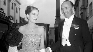 John Profumo and his wife, former actress Valerie Hobson