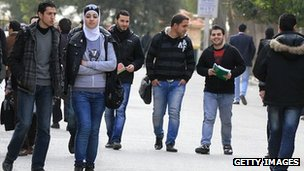 Students at University of Damascus (file photo)