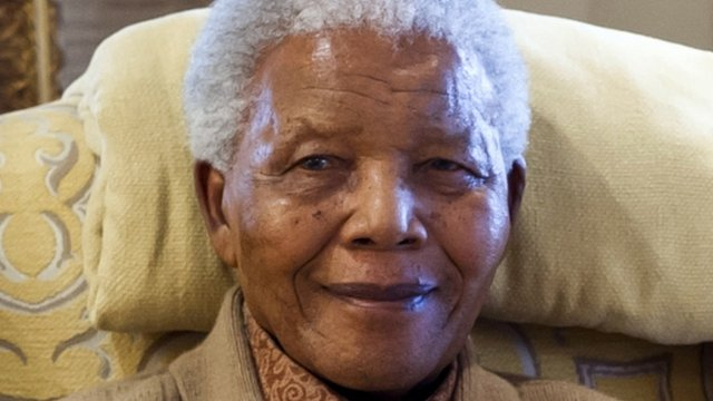 Nelson Mandela, pictured in 2012