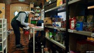 A food bank in London