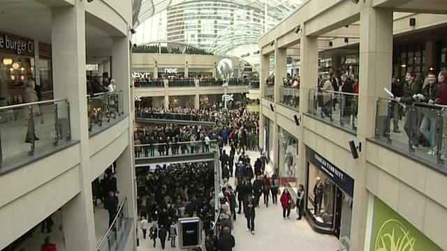 Busy shopping centre