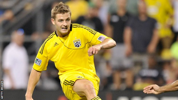 Robbie Rogers in action for Columbus Crew
