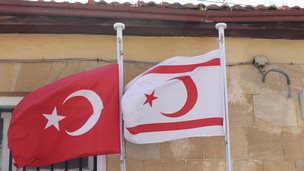 Flags of Turkey and Turkish Republic of Northern Cyprus (TRNC)