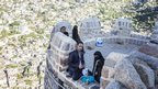 Young Yemenis at Taiz's Cairo Castle