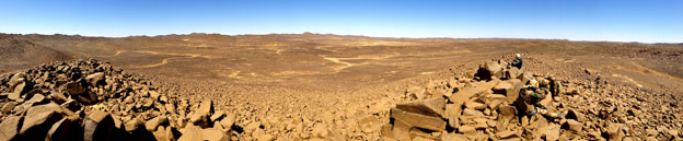 Panoramic view of landscape in Mali