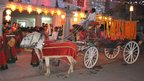Hose and cart at night time in Dhaka