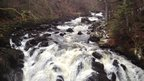 Waterfall near Dunkeld in Perthshire