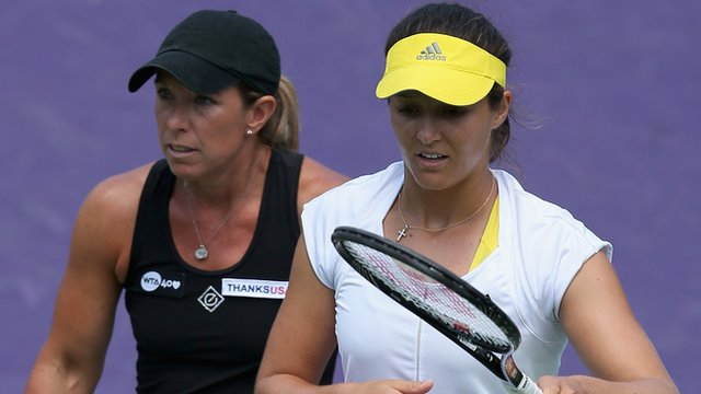 Laura Robson and Lisa Raymond