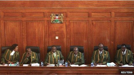 Kenyan Supreme Court judges, 25 March, 2013