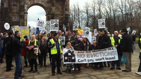 Glasgow protest - pic by Laura Bicker