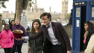 Jenna-Louise Coleman and Matt Smith in The Bells of Saint John