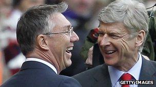 Nigel Adkins and Arsene Wenger